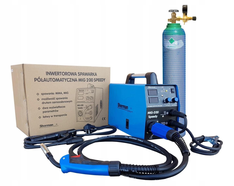Welding Set Sherman Speedy Mig 200 Arc Welder 200a Gas Bottle Wiring Diagram Further New Electric User Manual In Polish